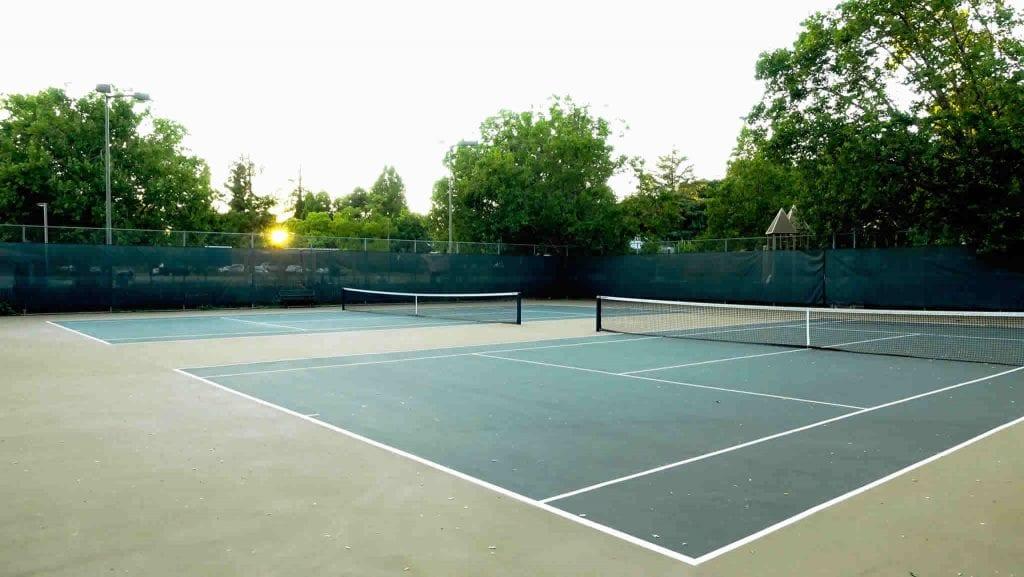 Sunset at Healdsburg's Free Tennis Courts