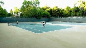 Kids Playing at Healdsburg's Free Tennis Courts