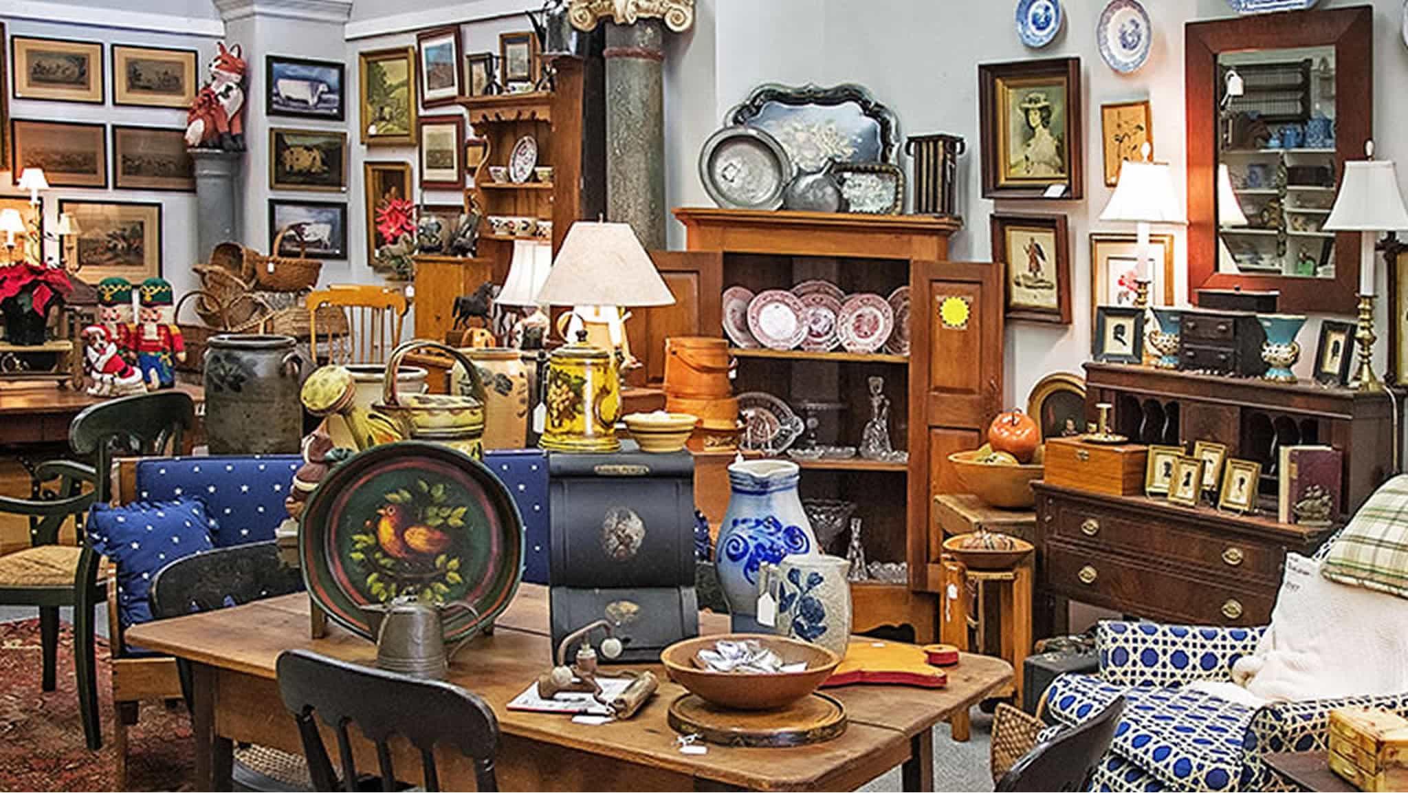 Mill Street Antiques Plaza Healdsburg