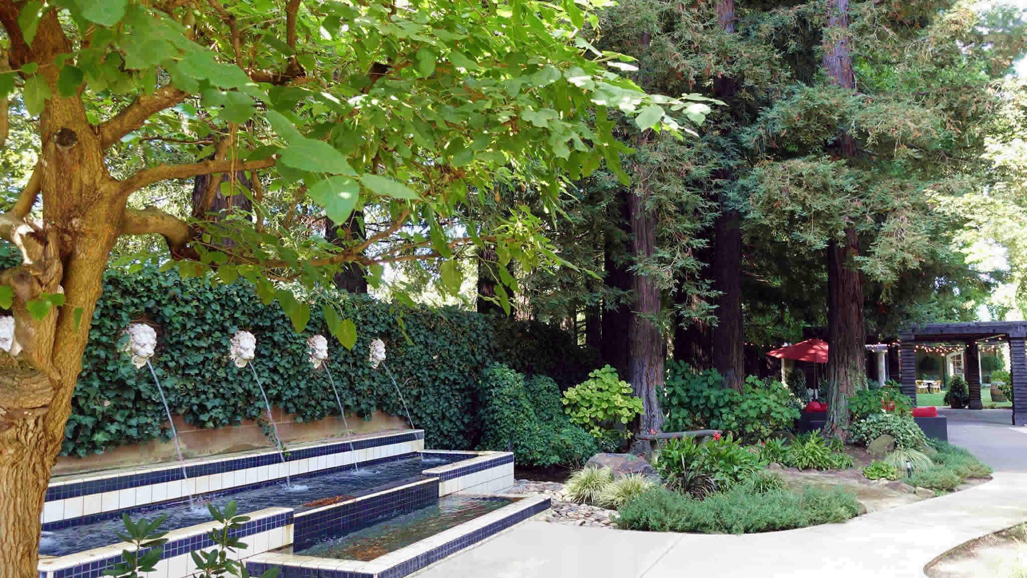 Trentadue Winery Gardens 'Fountain Corner' Healdsburg