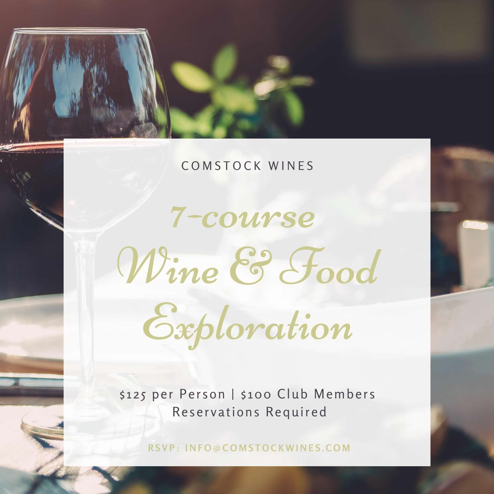 Comstock 7 Course Wine & Food Exploration