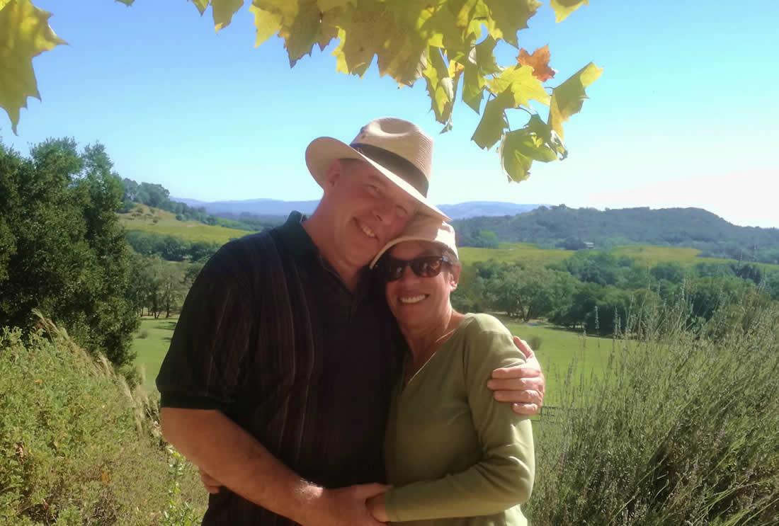 Writer and Contributor Richard Slater and his wife Yoli